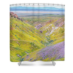 Shower Curtain featuring the photograph Temblor Range View To Caliente Range by Marc Crumpler
