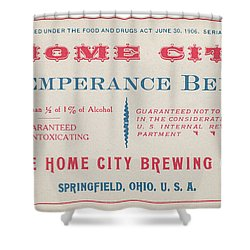 Shower Curtain featuring the photograph Temperance Beer Label by Tom Mc Nemar