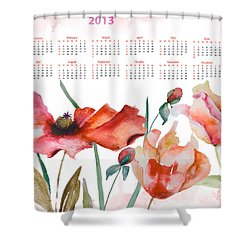 Template For Calendar 2013 Shower Curtain