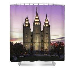 Temple Courtyard Shower Curtain