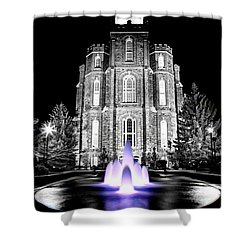 Temple Fountain  Shower Curtain