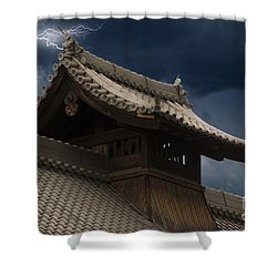 Temple In The Sky Shower Curtain