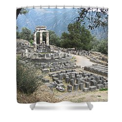 Temple Of Athena At Delphi Shower Curtain