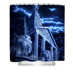 Temple Of Hercules In Kassel Shower Curtain