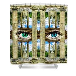 Temple Of Love Petit Trianon Versailles Palace Paris Shower Curtain