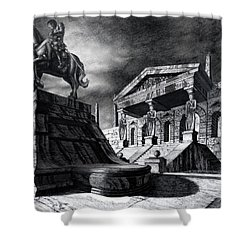 Temple Of Perseus Shower Curtain by Curtiss Shaffer