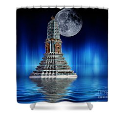 Temple Of The Moon Shower Curtain