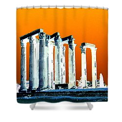 Temple Of Zeus, Athens Shower Curtain