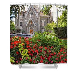 Temple Square Flowers Shower Curtain