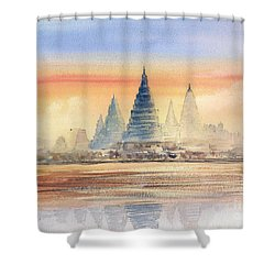 Temples In The Dusk Shower Curtain