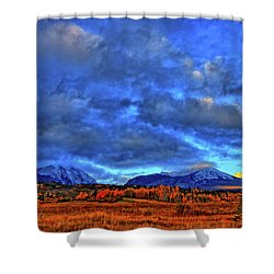 Shower Curtain featuring the photograph Ten Mile Of Fall Colors by Scott Mahon