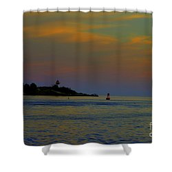 Ten Pound Light  At Dusk Shower Curtain