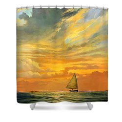 Ten Thousand Islands Shower Curtain