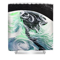 Shower Curtain featuring the painting Tenaciously Mindful by Nathan Rhoads