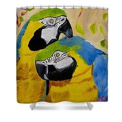 Tender Birdsong  Shower Curtain by Meryl Goudey
