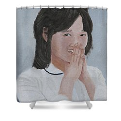 Tender Smile Shower Curtain
