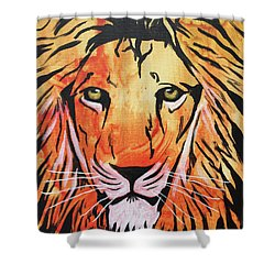 Shower Curtain featuring the painting Tenderhearted Warrior by Nathan Rhoads