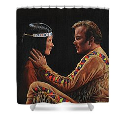 Tenderness In His Touch Shower Curtain
