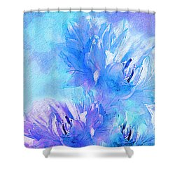 Shower Curtain featuring the digital art Tenderness by Klara Acel