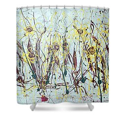 Shower Curtain featuring the painting Tending My Garden by J R Seymour