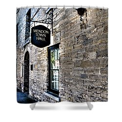 Mendon Town Hall Shower Curtain by William Norton