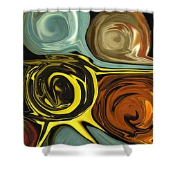 Shower Curtain featuring the digital art Tendrils by Mary Bedy