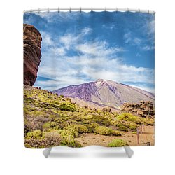 Tenerife Shower Curtain by JR Photography