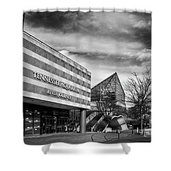Tennessee Aquarium's River Journey In Black And White Shower Curtain