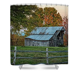 Tennessee Barn Shower Curtain