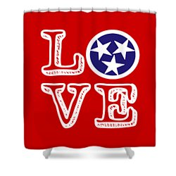Shower Curtain featuring the digital art Tennessee Flag Love by Heather Applegate