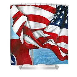 Tennessee Heroes Shower Curtain
