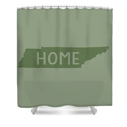 Shower Curtain featuring the digital art Tennessee Home Green by Heather Applegate