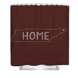 Shower Curtain featuring the digital art Tennessee Home by Heather Applegate