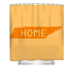 Shower Curtain featuring the digital art Tennessee Home Orange by Heather Applegate