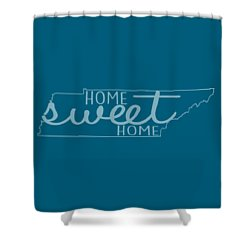 Shower Curtain featuring the digital art Tennessee Home Sweet Home by Heather Applegate