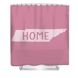 Shower Curtain featuring the photograph Tennessee Home White by Heather Applegate