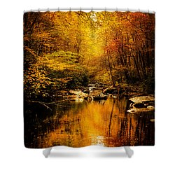 Tennessee Mountains Autumn Shower Curtain by Greg Mimbs
