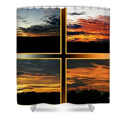Shower Curtain featuring the photograph Tennessee Sunset by EricaMaxine  Price