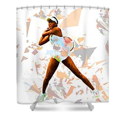 Shower Curtain featuring the painting Tennis 113 by Movie Poster Prints