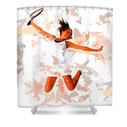 Shower Curtain featuring the painting Tennis 115 by Movie Poster Prints
