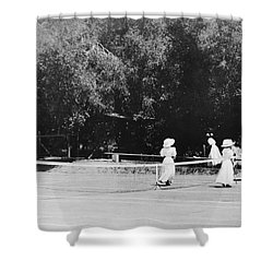 Tennis Champions Sutton And Hotchkiss Shower Curtain by Omikron