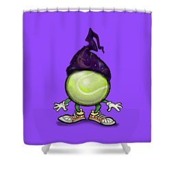 Tennis Wiz Shower Curtain by Kevin Middleton