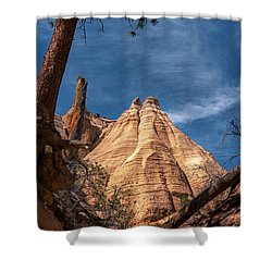 Tent Rock And Ponderosa Pine Shower Curtain