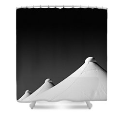 Tent Tops Shower Curtain by Dave Bowman