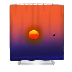 Tequila Sunrise Shower Curtain by Bill Cannon