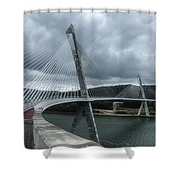 Terenez Bridge I Shower Curtain by Helen Northcott