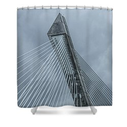 Terenez Bridge II Shower Curtain