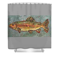 Teresa The Trout Shower Curtain