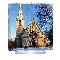 Terijoki Church Shower Curtain by Kai Saarto