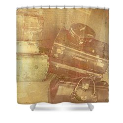 Terminal Goodbye Shower Curtain by Jorgo Photography - Wall Art Gallery